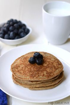 Brain Booster Pancakes - High in protein, fiber, and omega 3s - the perfect start to your child\'s day! www.superhealthyk...