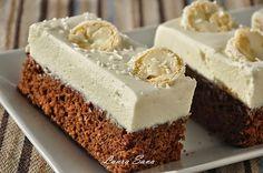 Čokoládová torta s kokosovým krémom Romanian Desserts, Romanian Food, Cheesecake, Vegan Desserts, Fun Desserts, White Chocolate Cupcakes, Chocolate Cake, Cake Recipes, Dessert Recipes