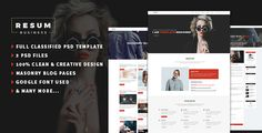 resum-Portfolio,Resume One Page PSD Template by Third_eyes Personal CV/Resume PSD Template is a clean and modern, it is easy to customize, perfectly suits for placing your information¡¯s. Al