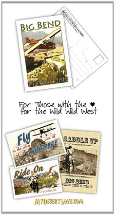 Handmade Photo Postcard Travel Big Bend Nature at its Finest Aviation Flying West Texas - Choose 4x6 or 5x7 (1.50 USD) by MyDesertLoveDesigns