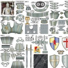 3d Paper, Paper Toys, Paper Airplane Models, Free Paper Models, Mini Craft, Knight Armor, Medieval Knight, Dnd Characters, How To Make Paper