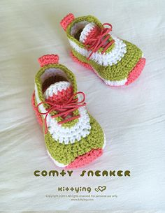 Comfy Baby Sneakers Crochet Pattern by Crochet Pattern Kittying from…