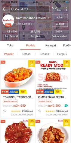 Best Online Clothing Stores, Online Shopping Sites, Online Shopping Clothes, Online Shop Baju, Korean Food, Food Videos, Happy Shopping, Good Food, Food And Drink