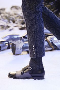 FALL 2013 MENSWEAR Moncler Gamme Bleu. Great look. I'd have to have the pants just a smidge longer but yes...sign me up!