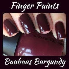 Finger Paints Bauhaus Burgundy