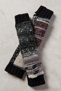 Metallic Fingerless Gloves #anthropologie
