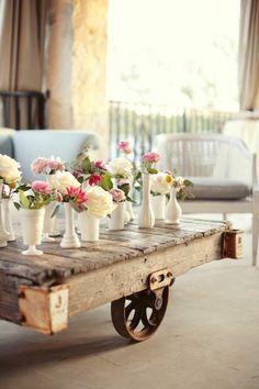 Palette table basse déco d'une jolie pièce
