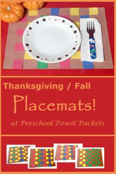 These fall / Thanksgiving placemats are so fun! Perfect for preschoolers and older kiddos too!