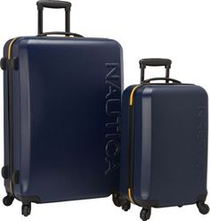 A fun, fashion-forward and durable Nautica luggage set that is ideal for all of your vacation and travel needs. Best Carry On Luggage, Mens Luggage, Luggage Case, Travel Luggage, Travel Bag, Travel Stuff, Hardside Luggage Sets, Suitcase, Bag Men