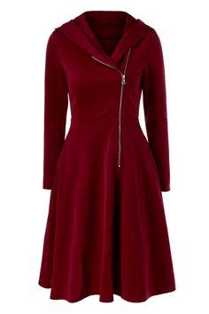 $19.87 Side Zip Hooded Dress