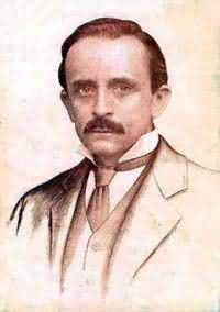 Picture of J. M. Barrie, author of Peter Pan (also J.M. Barrie, JM Barrie); Scottish Literature; journalist, playwright, children's stories