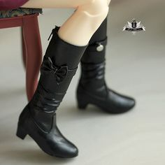MSD Shoes 1/4 BJD Boots Dollfie EID MID DOD SOOM AOD Dollmore Black Boots 0128 #Unbranded #BJDSHOES