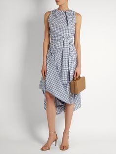 Gingham asymmetric dress | Vivienne Westwood Anglomania | MATCHESFASHION.COM US