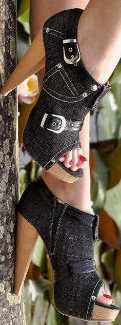 Denim Booties  | LBV ♥✤ | KeepSmiling | BeStayElegant