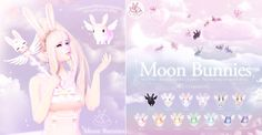 https://flic.kr/p/WgQm8T | +Half-Deer+ Moon Bunny Companions for The Crystal Heart! | Magical bunny companions for magical girls and boys <3  No rares, 13 to collect! TCH opens June 30! ______________________________________ Hair: Besom - Solace Dress: Sallie Wand+Ears: Half-Deer