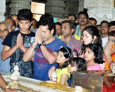 Sachin Tendulkar on a holiday in Gujarat