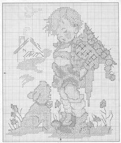 """Not For You"" Hummel cross stitch - pattern 1"