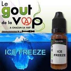 LE E-LIQUIDE ICE FREEZE DE LA GAMME LE GOUT DE LA VAP   ELLE VOUS OFFRE UNE FRAICHEUR HORS DU COMMUN  FABRIQUE EN FRANCE  FLACON DE 11ML