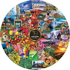 50th Commemorative 500 Piece Puzzle: The 50th anniversary puzzle celebrates Springbok's innovation and iconic imagery in one 500-piece puzzle. We've dusted off one of Springbok's original circular dyes, paired it with some of the most popular images in recent years and created an anniversary puzzle that is the best of everything Springbok. How many of these puzzles do you remember?: