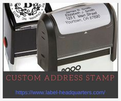 Custom Self Inking Stamps, Custom Address Stamp, Label, Outdoor Decor, Personalized Address Stamp