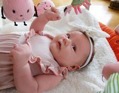 my sweet baby Linnéa 6 weeks old