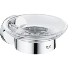 Grohe The Grohe Essentials Soap Dish is the perfect solution to keep your soap bar dry and handy. Finished in polished Grohe Starlight Chrome, the holder radiates a beautiful lustre and will look great long into the future. Automatic Soap Dispenser, Bidet, Soap Dispensers, Soap Holder, Bathroom Countertops, Bathroom Accessories Sets, Bathroom Furniture, Chrome Finish, Cleaning