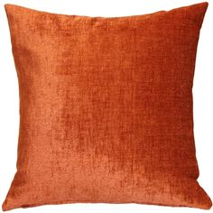 Venetian Velvet Earthen Orange Throw Pillow from Pillow Decor : The Venetian Velvet Earthen Orange Pillow is wonderfully soft with a texture that feels half chenille, half velvet, but a luster that is all velvet! Teal Throws, Orange Sofa, Orange Throw Pillows, Velvet Pillows, Sofa Pillows, Decorative Throw Pillows, Bedroom Orange, How To Clean Pillows