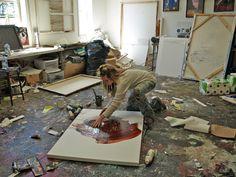 Michel Keck, Artist in the studio, United States