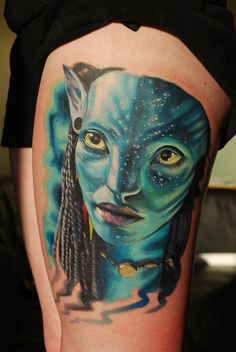 tattoo done by Halo at Black Lotus Tattoo near Ft. He does some of the best portrait tattoos I've seen. Tattoos Motive, Tattoos 3d, Time Tattoos, Black Tattoos, Body Art Tattoos, Portrait Tattoos, Tatoos, Nerd Tattoos, Avatar 3d