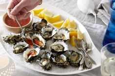 Oysters with nam jim dressing