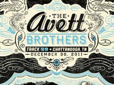 Avett Brothers concert poster