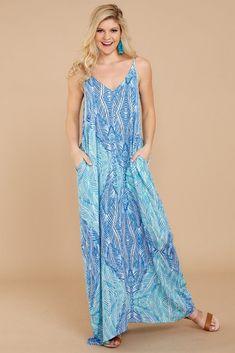 Weekend Upgrade Blue Print Maxi Dress. Beachy Maxi DressVacation  DressesSummer ... 77ab180ee