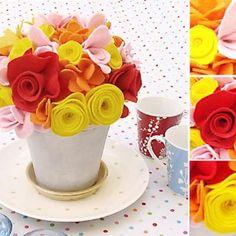 How To Make Felt Flowers Bouquet {tutorial}