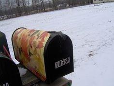 Fall Motif Mailbox Cover