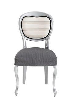 Eysa Ulises Designer Chair Elastic grey: Amazon.co.uk: Kitchen & Home
