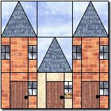 Row houses paper piecing pattern