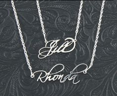 Sterling Silver Filigree Name Necklace