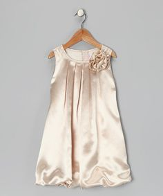 Look what I found on #zulily! Champagne Rose Bubble Dress - Toddler & Girls #zulilyfinds