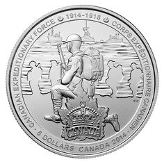 Fine Silver Coin - First World War - Canadian Expeditionary Force - Mintage: 10,000 (2014)