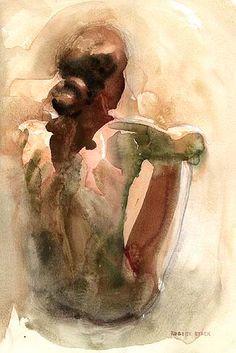 Watercolour. Robert Stack