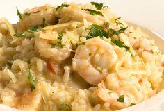 Que delícia?   Descubra que o mundo é maravilhoso com este risoto de camarão cremoso