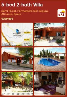 5-bed 2-bath Villa in Semi Rural, Formentera Del Segura, Alicante, Spain ►€299,995 #PropertyForSaleInSpain