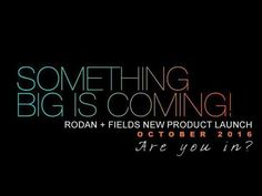 Rodan + Fields is growing so fast! Keep your eyes peeled for more info on our product release. We will be available in Australia in October 2016.