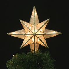 Capiz Classical Multi Point Bethlehem Star Christmas Tree Topper  - Christmas Tree Star