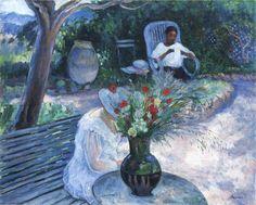 The Garden at Pradet - Henri Lebasque  French 1865-1937