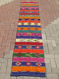 Turkish Handwoven Kilim Natural Wool Rug Carpet by decorpillow