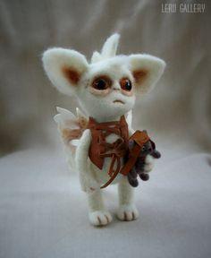 Baby Dragon. Felted art doll. Felt doll. Dragon toy. Needle felted. Fantasy. Steampunk. OOAK. Steampunk doll. Fantasy doll.