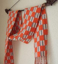 手織りカシミアマフラー・・少年