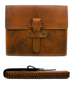 LEATHER IPAD2 CASE IN ANTIQUE TAN WITH BASEBALL STITCH DETAIL    $195.00