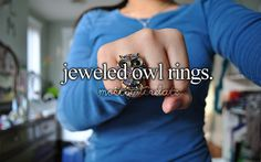 Jeweled Owl Rings -Just Girly Things <3